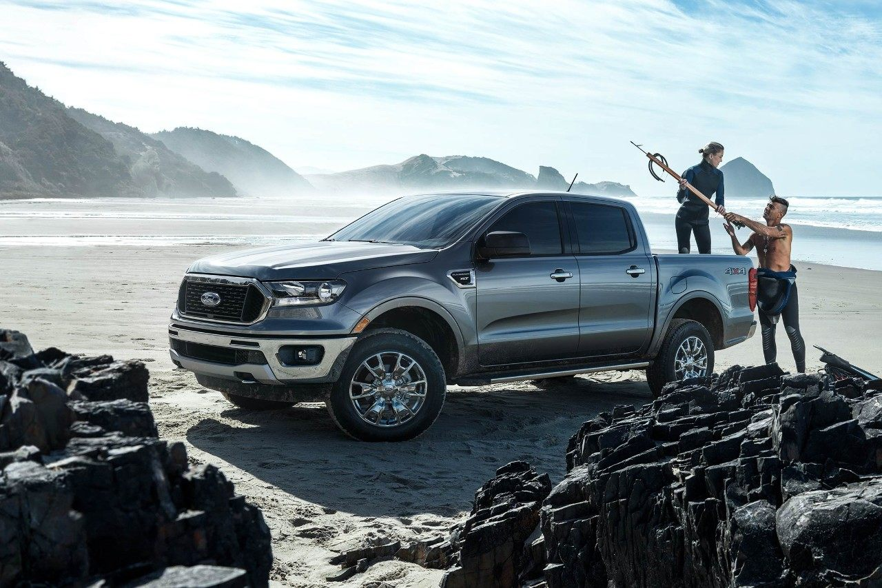 New Gray 2019 Ford Ranger On the Beach