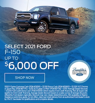Select 2021 Ford F-150 - April