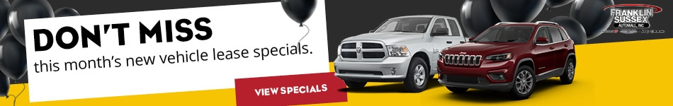 New Vehicle Special Offers at Franklin Sussex Auto Mall
