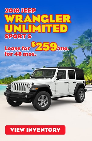 Jeep Wrangler Unlimited Sport S Lease Offer