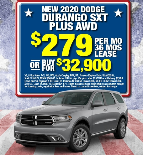 Dodge Durango SXT Plus Special Offer