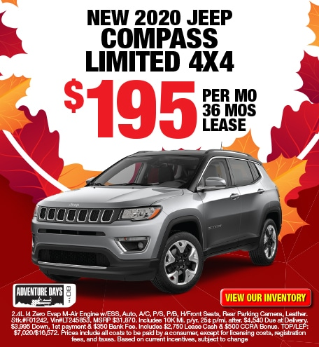 Jeep Compass Limited Lease Offer