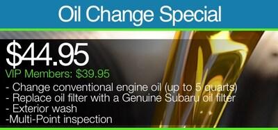 Oil Change Special | VIP Members: $39.95