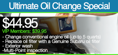 Ultimate Oil Change Special | VIP Members: $39.95