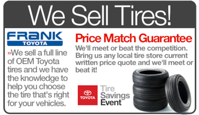 We Sell Tires! Price Match Guarantee