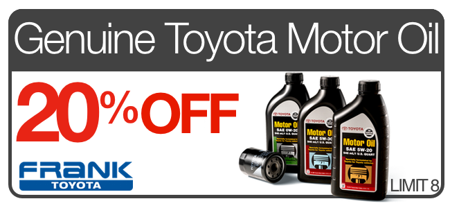 Toyota parts coupons frank toyota serving the san for Frank motors national city
