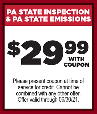 PA State Inspection Offer