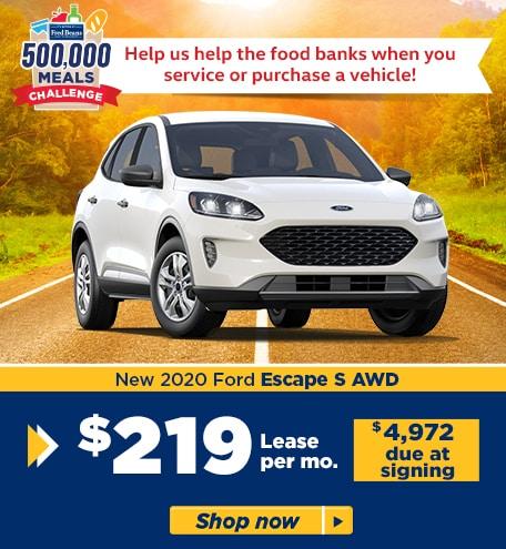 New 2020 Ford Escape S AWD