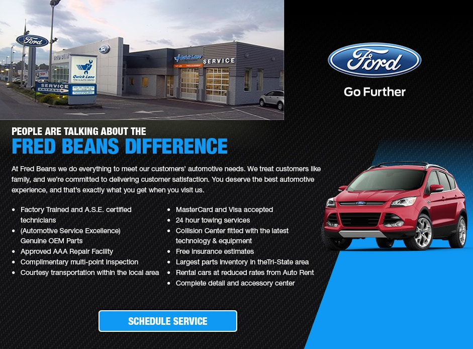 Service Department Fred Beans Ford Of Boyertown