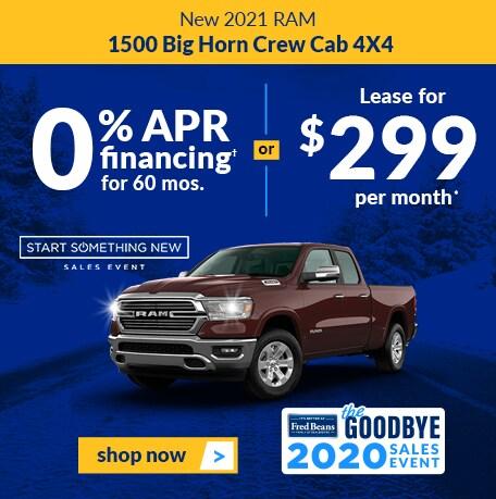 New 2021 RAM 1500 CREW CAB BIG HORN CREW CAB 4X4