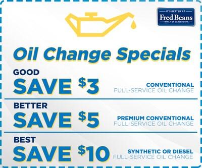 September Oil Change Special