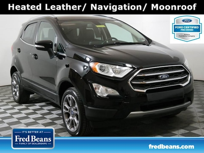 Certified Pre-Owned 2018 Ford EcoSport Titanium 4WD I4 *Ford Certified* SUV For Sale in Doylestown PA