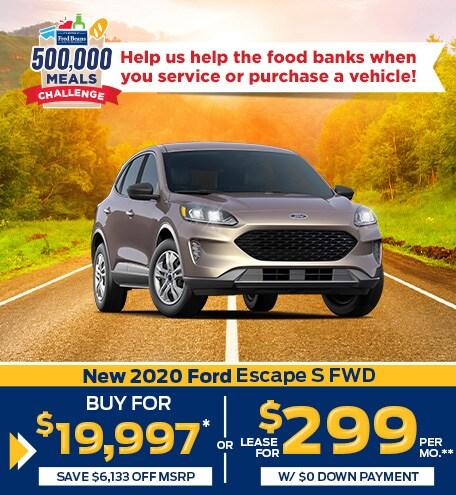 New 2020 Ford Escape S FWD