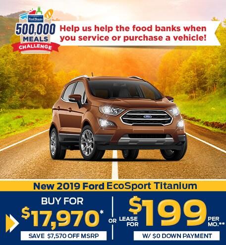 New 2019 Ford EcoSport Titanium 4WD