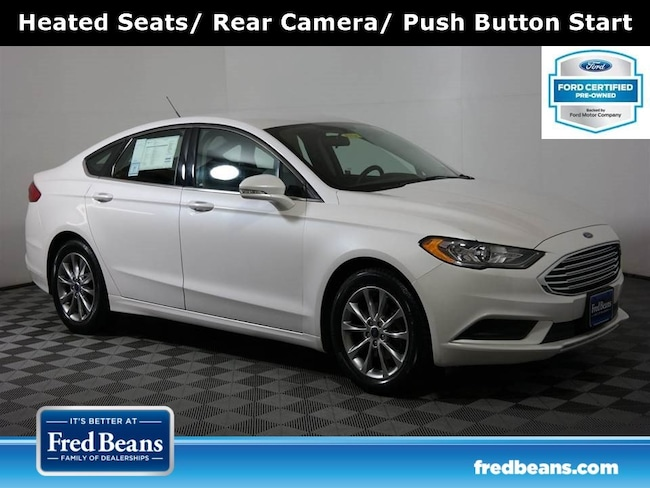 Certified Pre-Owned 2017 Ford Fusion SE EcoBoost FWD I4 *Ford Certified* Sedan For Sale in Doylestown PA