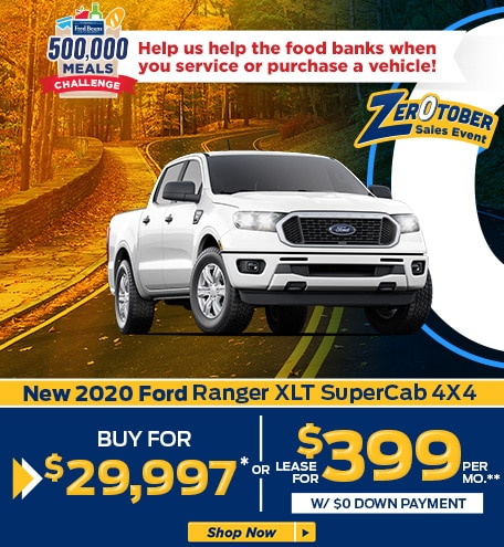 New 2020 Ford Ranger XLT SuperCab 4X4