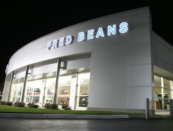 Fred Beans Ford Doylestown at Night
