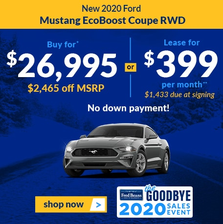 New 2020 Ford Mustang EcoBoost Coupe RWD