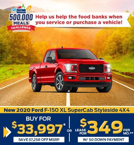New 2020 Ford F-150 XL SuperCab Styleside 4X4