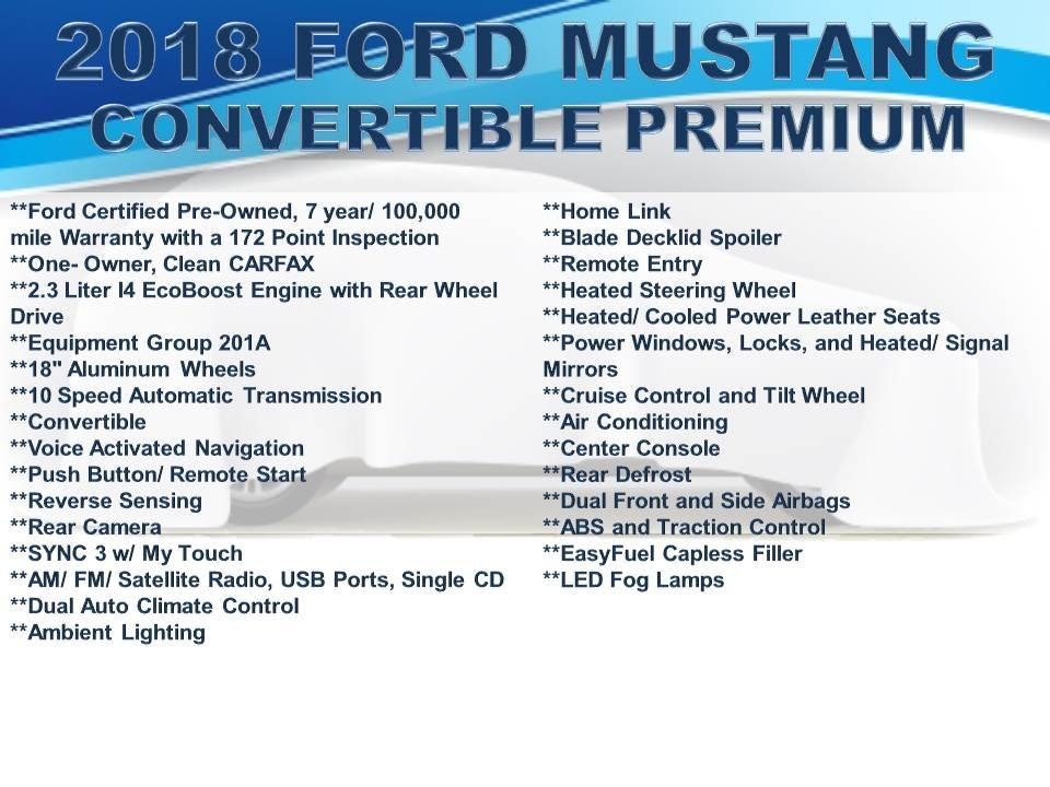 Used 2018 Ford Mustang For Sale   Doylestown PA - Serving
