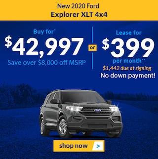 New 2020 Ford Explorer XLT 4x4