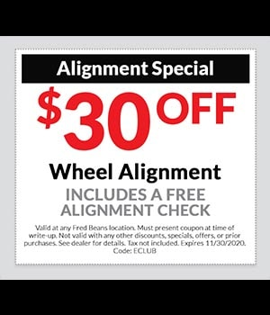 $30 off Alignment Special