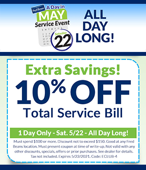 Extra 10% Off Total Service Bill