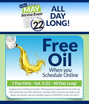 Free Oil when you Schedule Online
