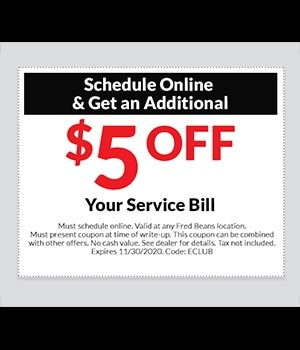 $5 off when you Schedule Online