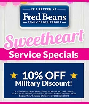 Military Discount Sweetheart Service Special