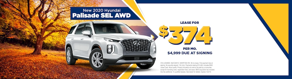 2020 Hyundai Palisade SEL AWD w/ Convenience Pkg and Sunroof
