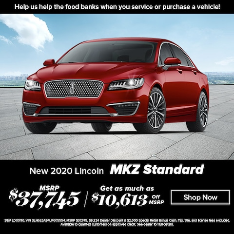 Save 30% off on a New Lincoln MKZ!  MSRP $37,745, Buy for $27,132!