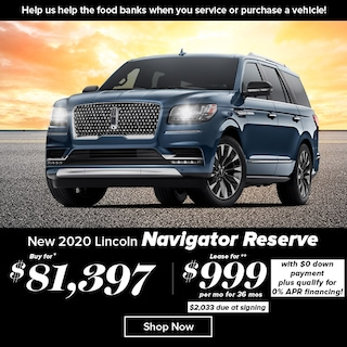 New 2020 Lincoln Navigator Reserve 4WD