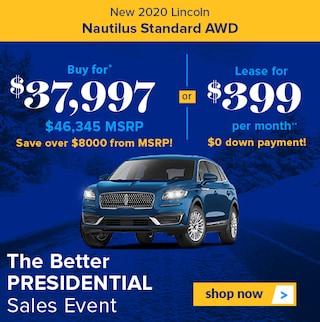 New 2020 Lincoln Nautilus Standard AWD