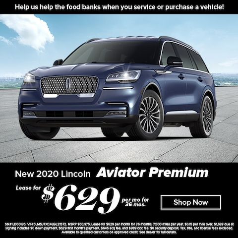Lease a new, 2020 Aviator Reserve for $629 per month with no downpayment!