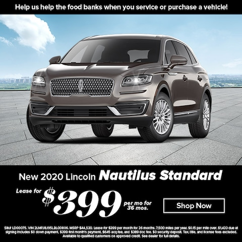 Lease a new, 2020 Nautilus for $399 per month with no downpayment!