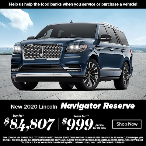 Purchase a brand new, 2020 Lincoln Navigator Reserve for $84,807