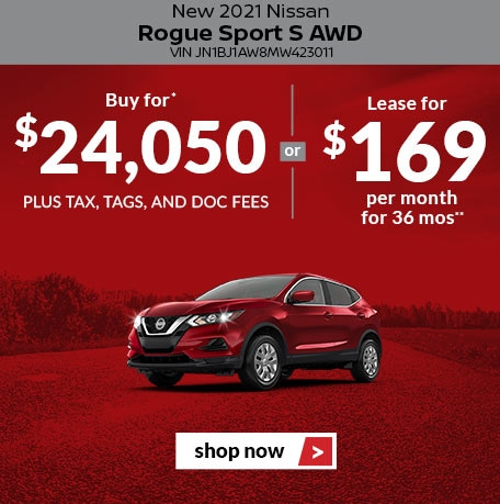 New 2021 Nissan Rogue Sport S AWD