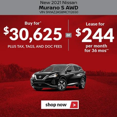 New 2021 Nissan Murano S AWD
