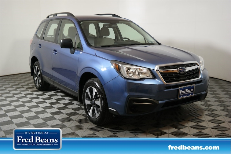 Certified 2017 Subaru Forester 2.5I SUV JF2SJABC3HH532120 S90025P for sale at Fred Beans Subaru in Doylestown, PA