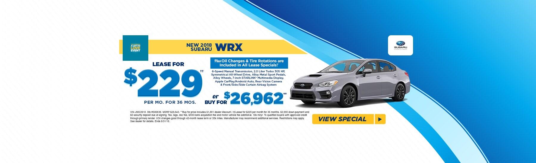 Fred Beans Subaru >> Subaru Wrx Special Doylestown Pa Fred Beans Subaru