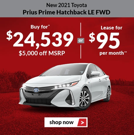 New 2021 Toyota Prius Prime Hatchback LE FWD