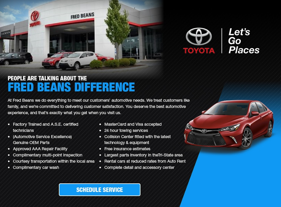 Toyota Service Repair Bridgewater NJ Fred Beans Toyota - Toyota dealership hours