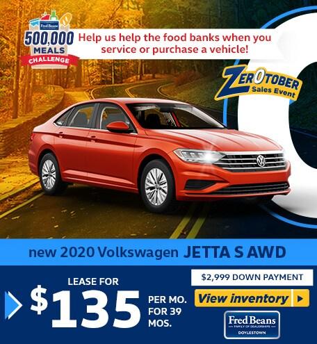 New 2020 VOLKSWAGEN JETTA S AWD