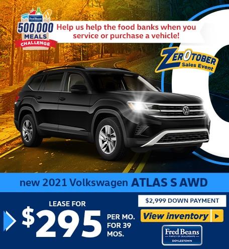 New 2021 VOLKSWAGEN ATLAS S AWD
