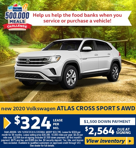 New 2020 Volkswagen Atlas Cross Sport S AWD