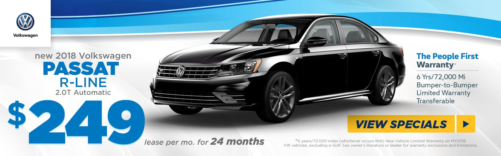 Lease a New 2018 VW Passat R-Line for $249/mo at Fred ...