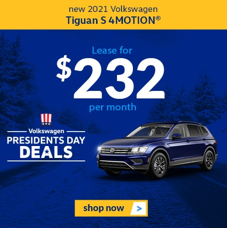 New 2021 Volkswagen Tiguan S 4MOTION®