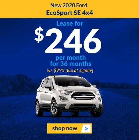 New 2020 Ford EcoSport SE 4x4