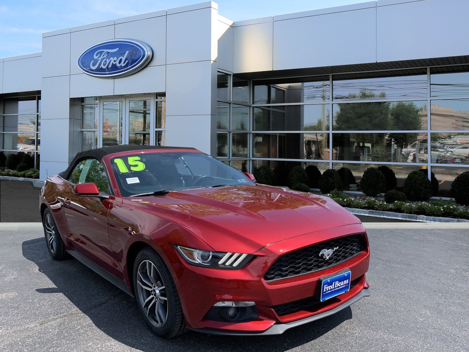 2015 ford mustang ecoboost premium convertible i 4 cyl
